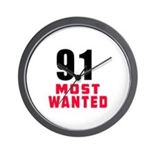 91 most wanted Wall Clock