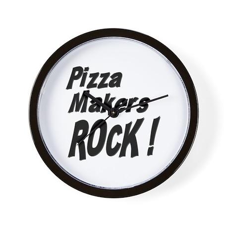 Pizza Makers Rock ! Wall Clock