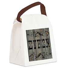 Ethen, Western Themed Canvas Lunch Bag
