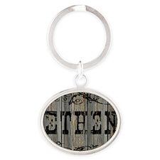 Ethen, Western Themed Oval Keychain