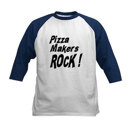 Pizza Makers Rock ! Kids Baseball Jersey