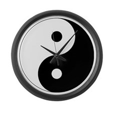 yinyanglightNew Large Wall Clock