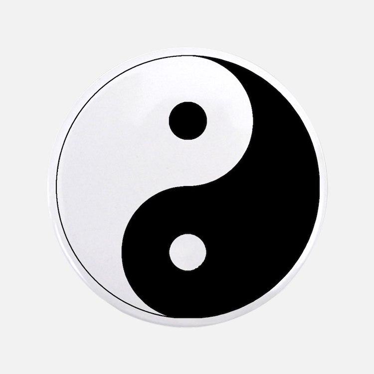 "yinyanglightNew 3.5"" Button"