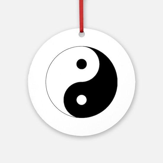 yinyanglightNew Round Ornament