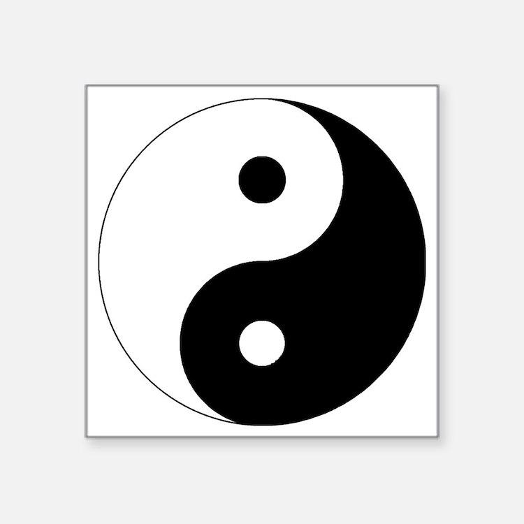 "yinyanglightNew Square Sticker 3"" x 3"""