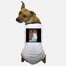 White Turkish Angora laptop Dog T-Shirt
