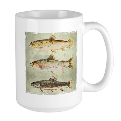 Trout Watercolor by Artist Dave Teffeteller Mugs