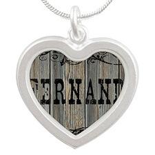 Fernando, Western Themed Silver Heart Necklace