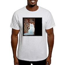 White Turkish Angora longest T-Shirt