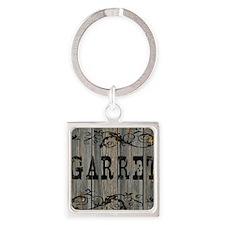 Garret, Western Themed Square Keychain