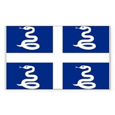 Martinique flag unofficial Rectangle Decal