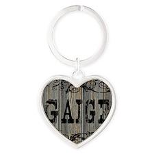 Gaige, Western Themed Heart Keychain
