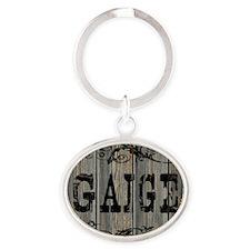 Gaige, Western Themed Oval Keychain