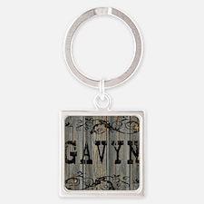 Gavyn, Western Themed Square Keychain