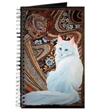 White Turkish Angora label Journal