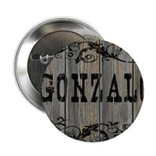 "Gonzalo, Western Themed 2.25"" Button"