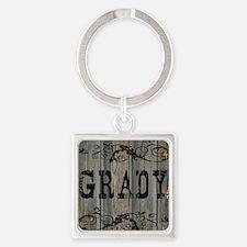 Grady, Western Themed Square Keychain