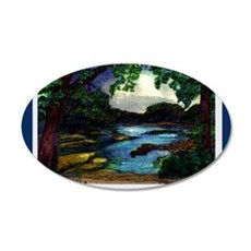 Summer Day of the Mississipp 35x21 Oval Wall Decal