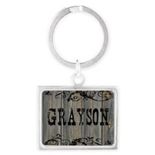 Grayson, Western Themed Landscape Keychain