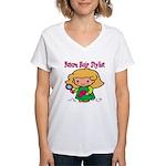 Future Hair Stylist Women's V-Neck T-Shirt