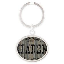 Haden, Western Themed Oval Keychain