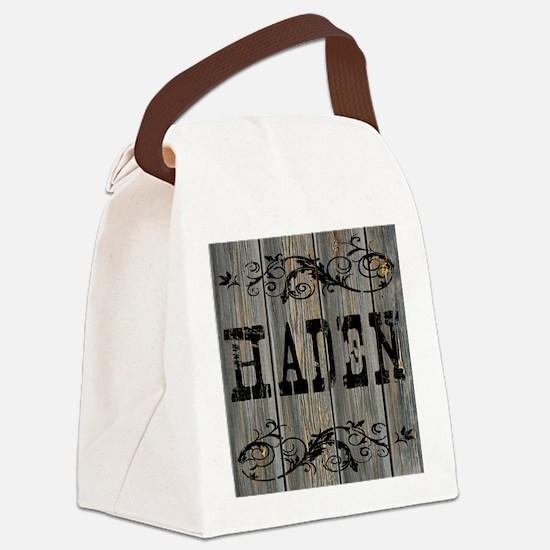 Haden, Western Themed Canvas Lunch Bag