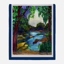 Summer Day of the Mississippi Path Throw Blanket