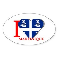 I love Martinique Oval Decal