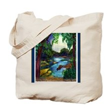 Summer Day of the Mississippi Path Tote Bag