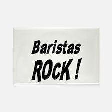 Baristas Rock ! Rectangle Magnet (100 pack)
