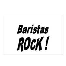 Baristas Rock ! Postcards (Package of 8)