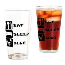 Eat Sleep Blog Drinking Glass