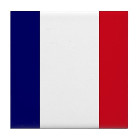 The French flag Tile Coaster