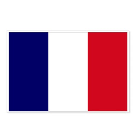 The French flag Postcards (Package of 8)
