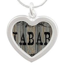 Jabari, Western Themed Silver Heart Necklace
