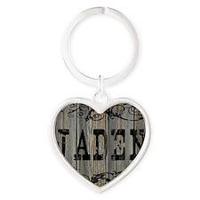 Jaden, Western Themed Heart Keychain