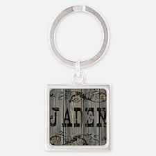 Jaden, Western Themed Square Keychain