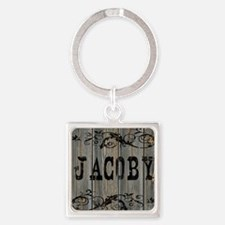 Jacoby, Western Themed Square Keychain