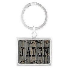 Jaden, Western Themed Landscape Keychain