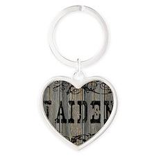 Jaiden, Western Themed Heart Keychain