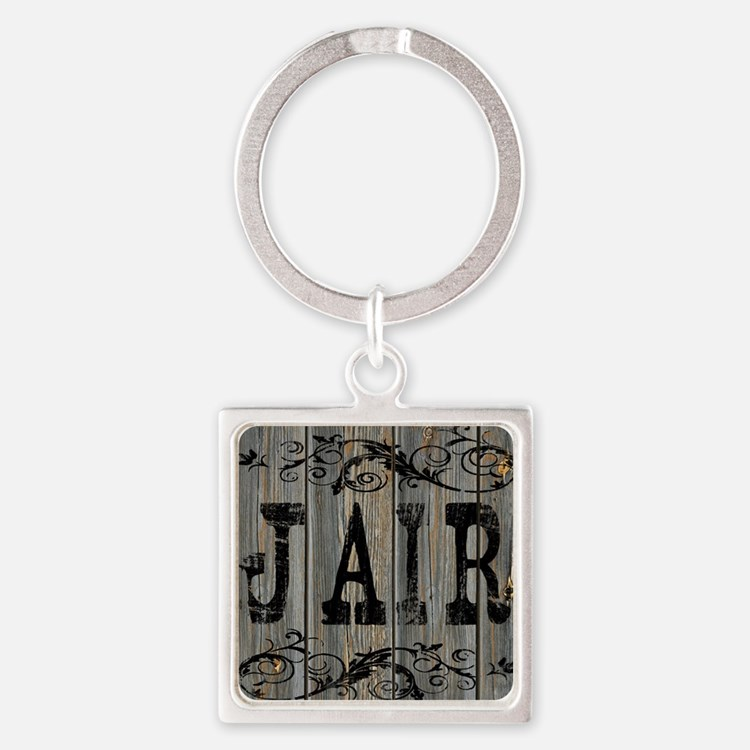 Jair, Western Themed Square Keychain