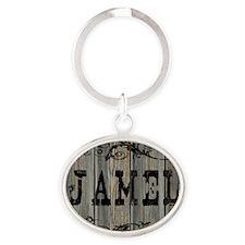 Jamel, Western Themed Oval Keychain