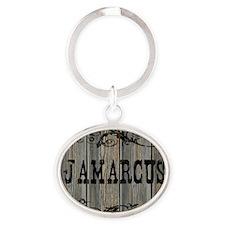 Jamarcus, Western Themed Oval Keychain