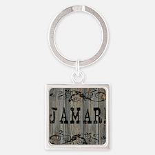 Jamari, Western Themed Square Keychain