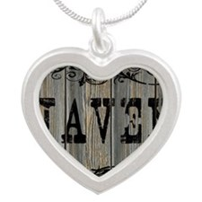 Javen, Western Themed Silver Heart Necklace
