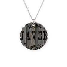 Javen, Western Themed Necklace Circle Charm