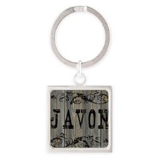 Javon, Western Themed Square Keychain