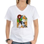 Five Pigeons Women's V-Neck T-Shirt