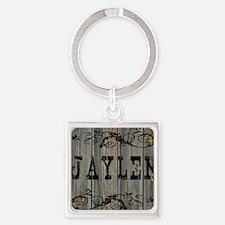 Jaylen, Western Themed Square Keychain