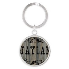 Jaylan, Western Themed Round Keychain